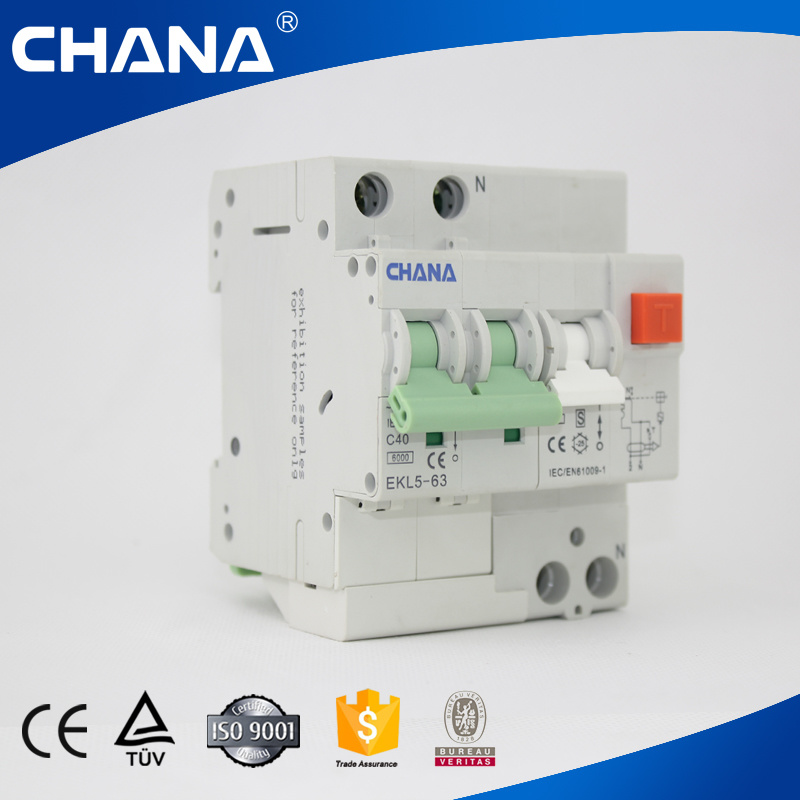 Ekl5-63 4p Electronic Type RCBO (RCCB With Overcurrent Protection)