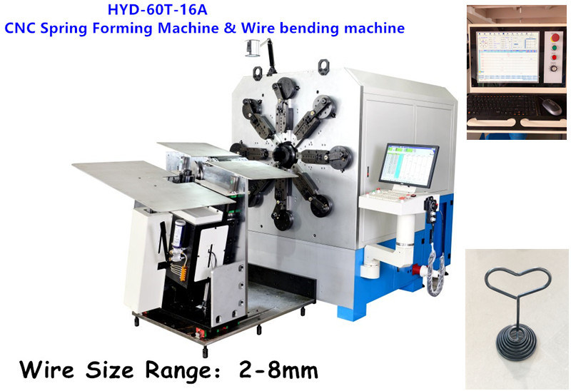 High-Efficient 8mm 16 Axes Cam-Less Spring Machine & Wire Bending Machine