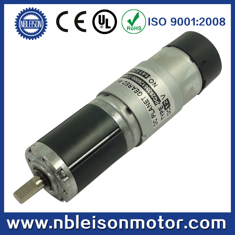 28mm 24V Brushed DC Planetary Geared DC Motor with Encoder