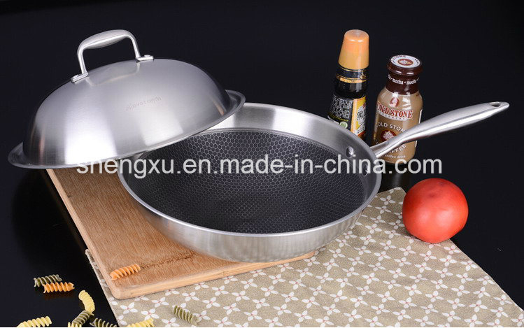 Non-Stick Stainless Steel Wok Cookware (SX-KS009)