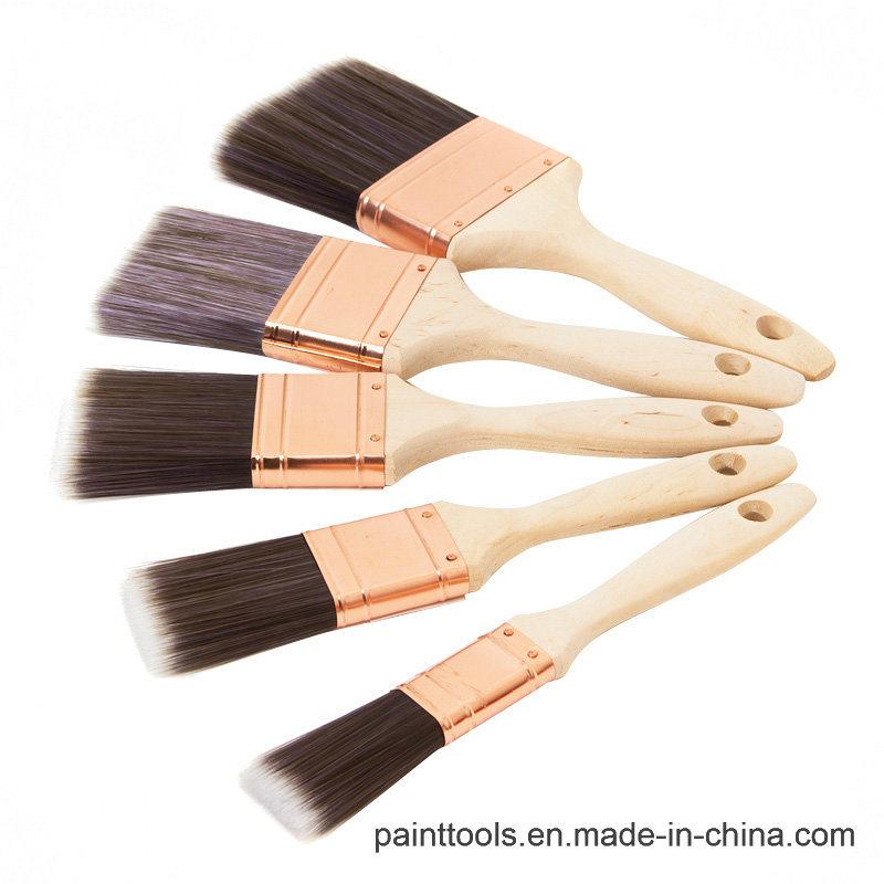 Beavertail Paint Brush with Wood Handle B023