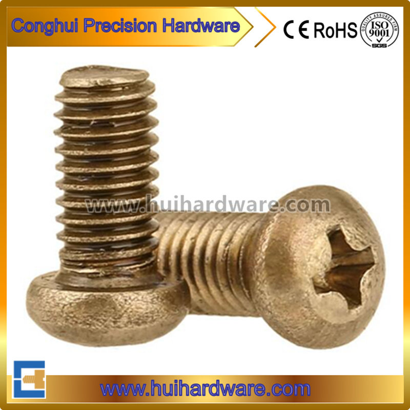 Brass Pan Head Machine Screws / Pan Head Phillips Brass Machine Screws
