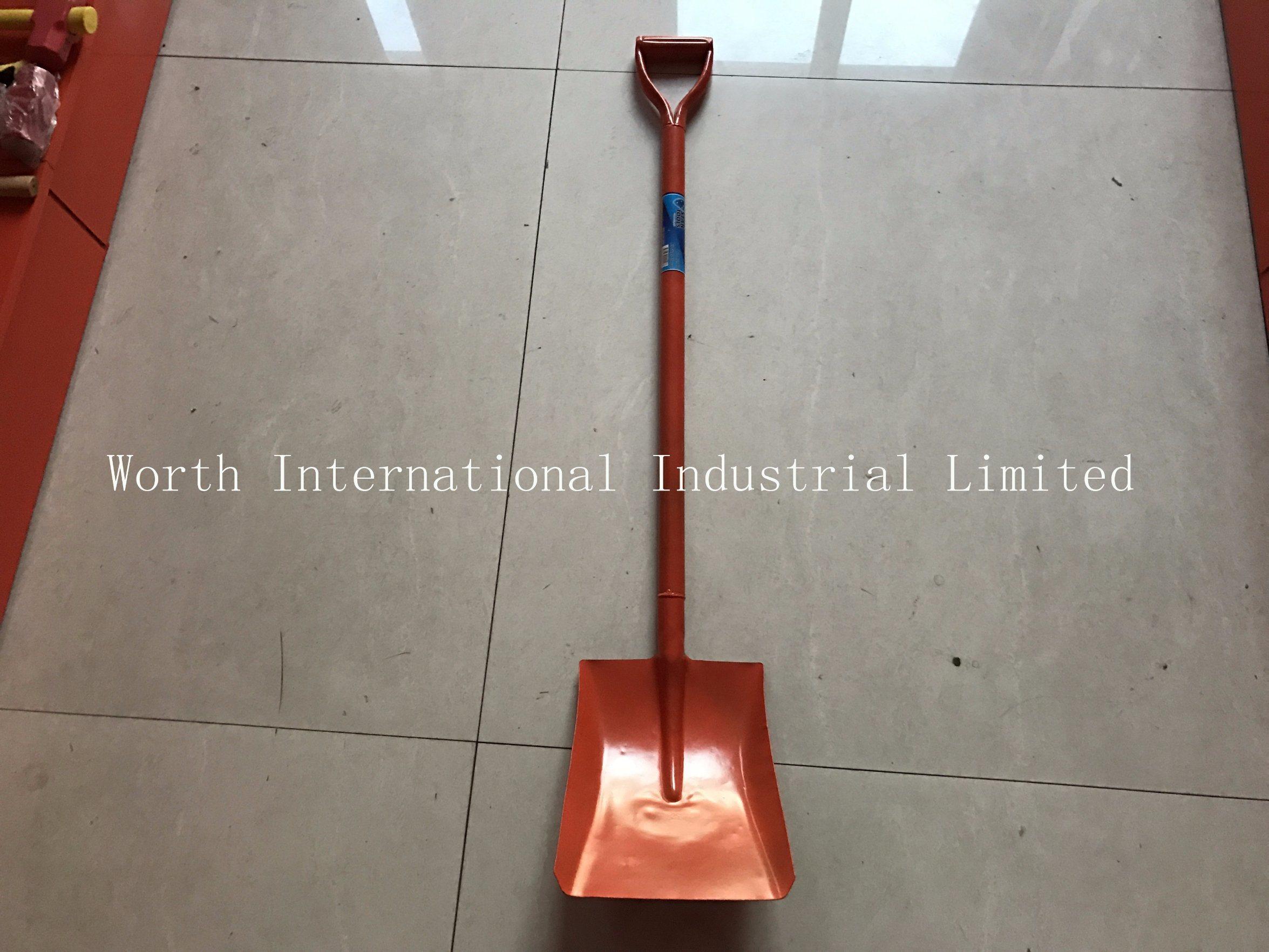 One Piece Steel Handle Shovel