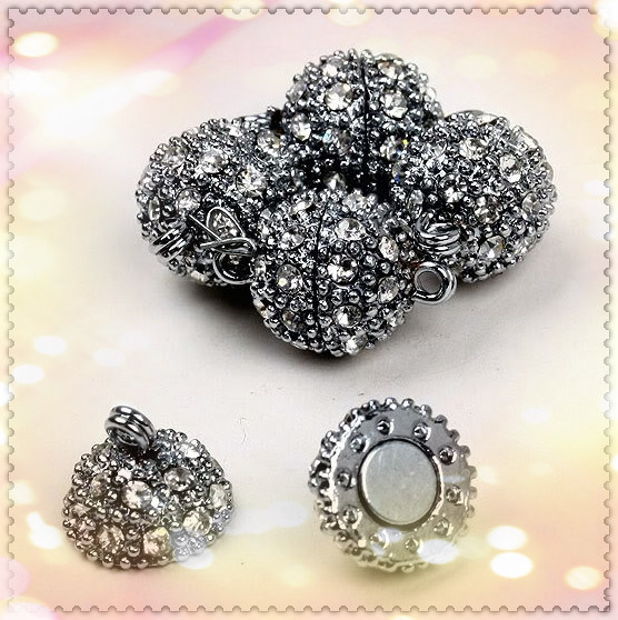 Магнитная мычка плакировкой ожерелья фермуаров с размером металла 10*13mm.