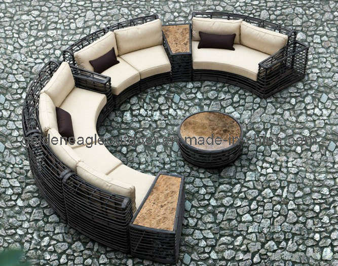 Round Rattan 2014 New Design Outdoor Garden Sofa (TY0014)