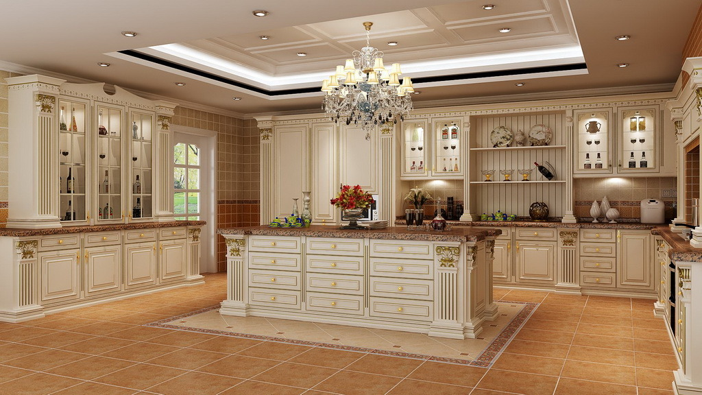 China kitchen furniture solid wood kitchen cabinet photos for Building kitchen cabinets with mdf