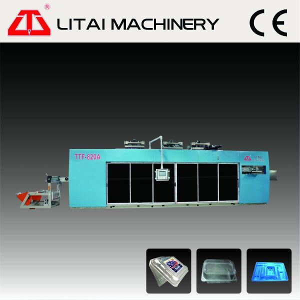 Four Station Full Automatic Plastic Tray Container Box Forming Machine