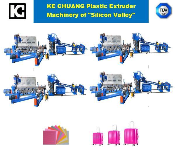 ABS/PC/PP/PE One or Two or Three Layers Production Line Plastic Extruder Machine for Luggage
