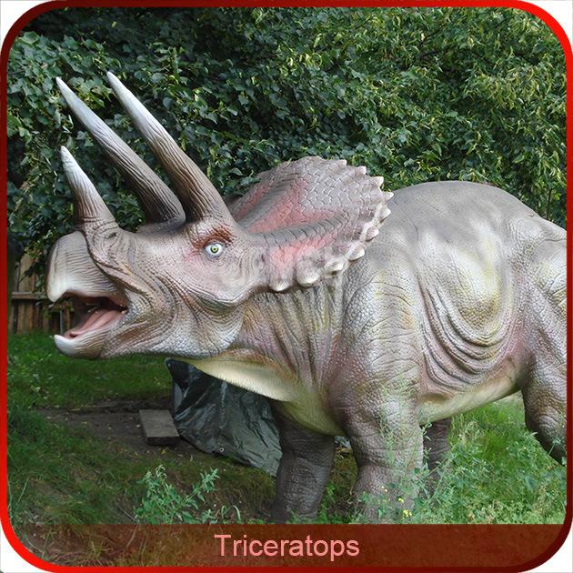 Vivid Artificial Amusement Park Mechanical Dinosaur