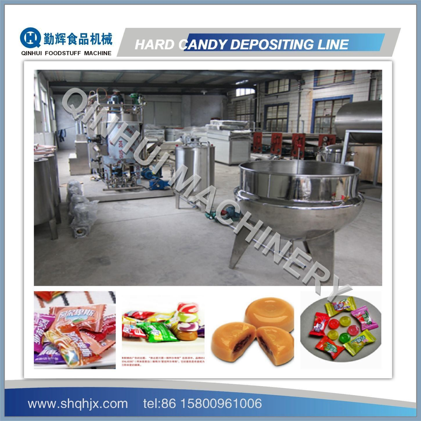 PLC Control&Full Automatic Hard Candy Making Machine