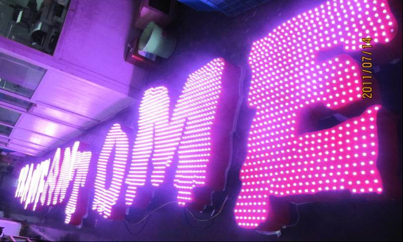 Metal Light up Letters (waterproof, programable) ---RGB Full Color Change Effect