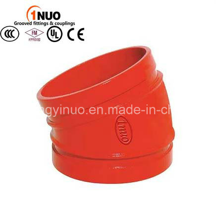 FM/UL/Ce High Quality Grooved 22.5 Degree Elbow for Fire Fighting Systems