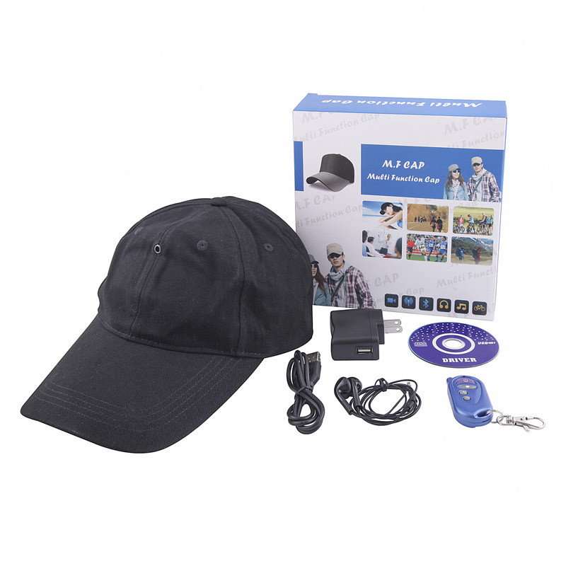 Cap Camera Hat DV Video Recorder Bluetooth MP3 Player (QT-H010)