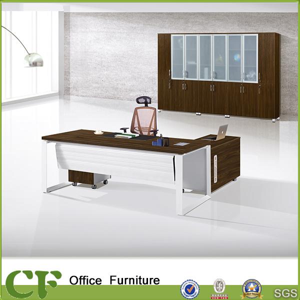 Office Desk Design china cf office furniture chairman desk design/white modesty panel