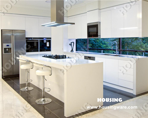China White High Gloss Painting Design, MDF Kitchen Cabinet Photos
