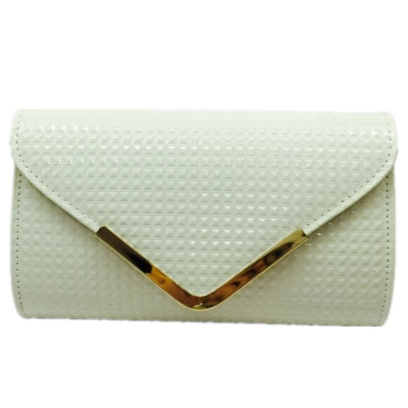 White clutch Woven Ladies Bags Simple Elegant Eveningbag