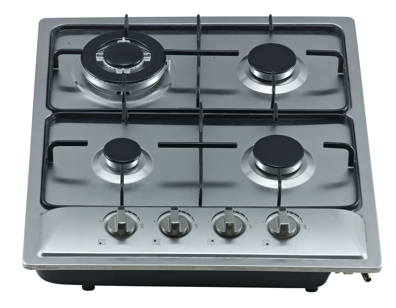 Built-in Gas Stove with S/S Top Cover Four Burner Sn-614