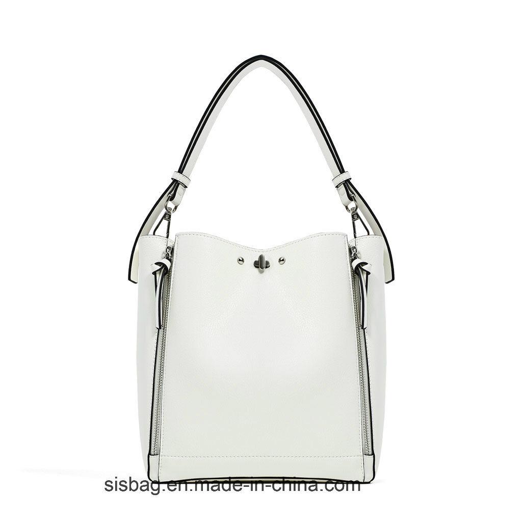 High Quality Zip Tote Bag Lady Shoulder Bucket Handbag