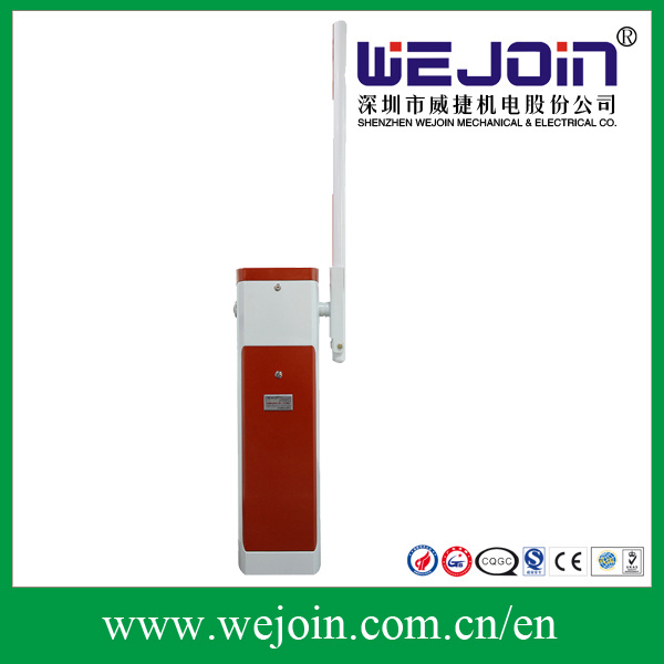 Red Intelligent Automatic Road Boom Barrier Gate for Car Parking Mangement