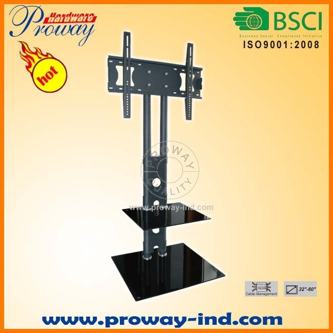"""Glass TV Stand with TV Mount for 32""""-60"""""""