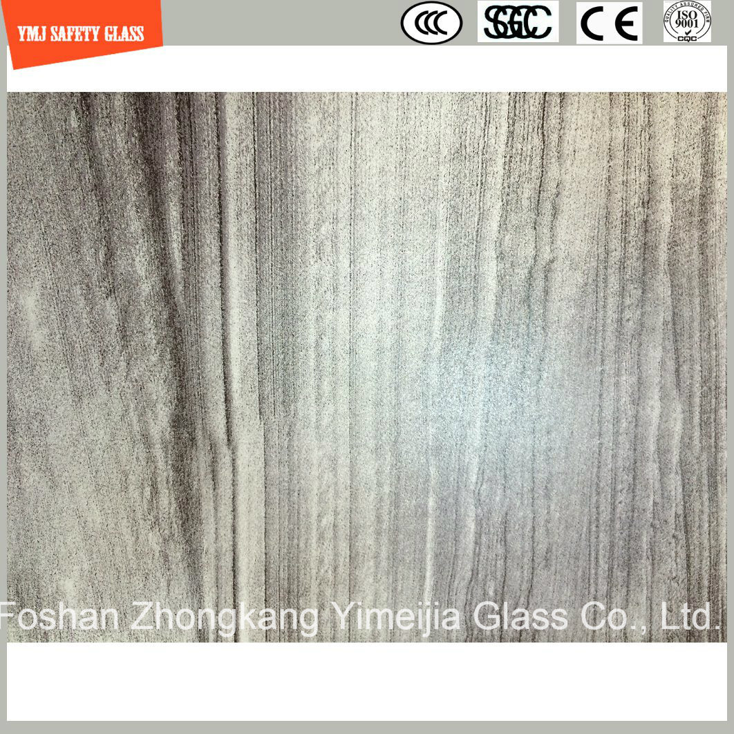 4-19mm Tempered Wooden Texture UV-Resisted Glass for Outdoor Furniture