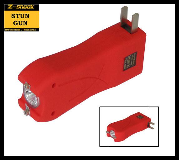 Mini Stun Gun with Rubberized Coat / Flashlight