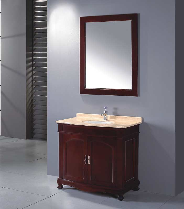 Solid wood bathroom cabinet bathroom vanity bathroom cabinet yl s9854 china bathroom for Unfinished wood bathroom cabinets