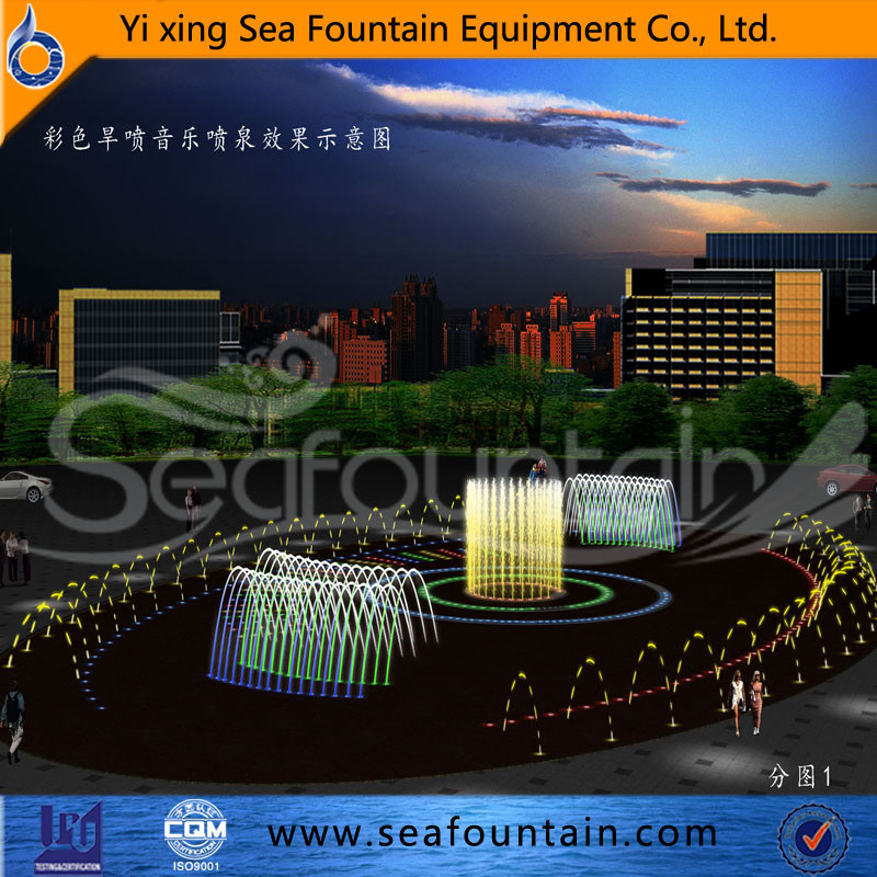 Seafountain Design Stainless Net Dry Floor Fountain