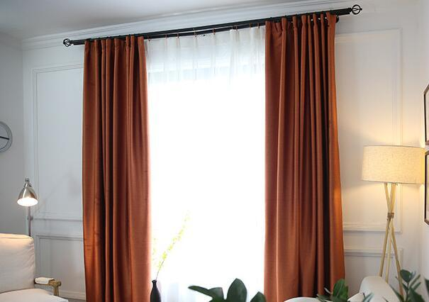 Linen Look Modern Design Blackout Curtain