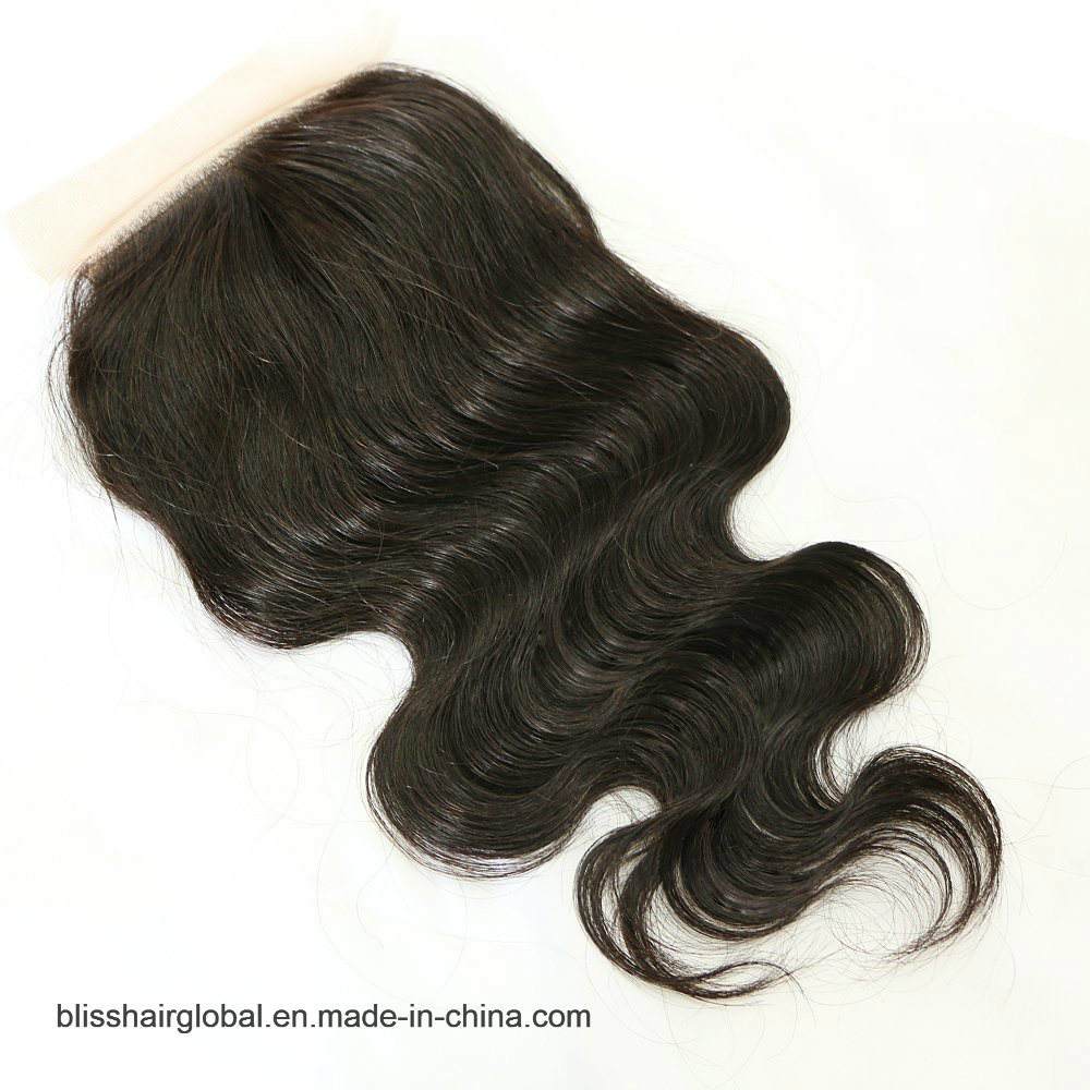 Bliss Hair 4X4 Lace Silk Base Closure Three/Free/Middle Part Top Swiss Silk Base Lace Closure Body Wave Peruvian Virgin Human Hair Closures Pieces