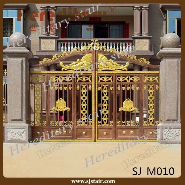 Exterior Usage Aluminum Automatic Swing Main Gate