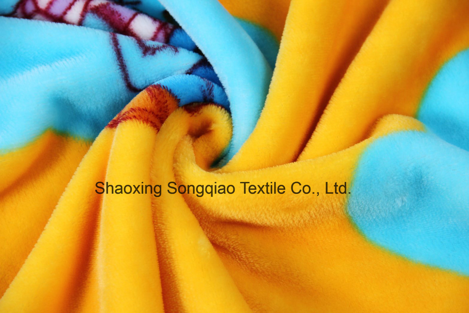 Printed Polyester Flannel/Coral Fleece Fabric - 14012-10 1#