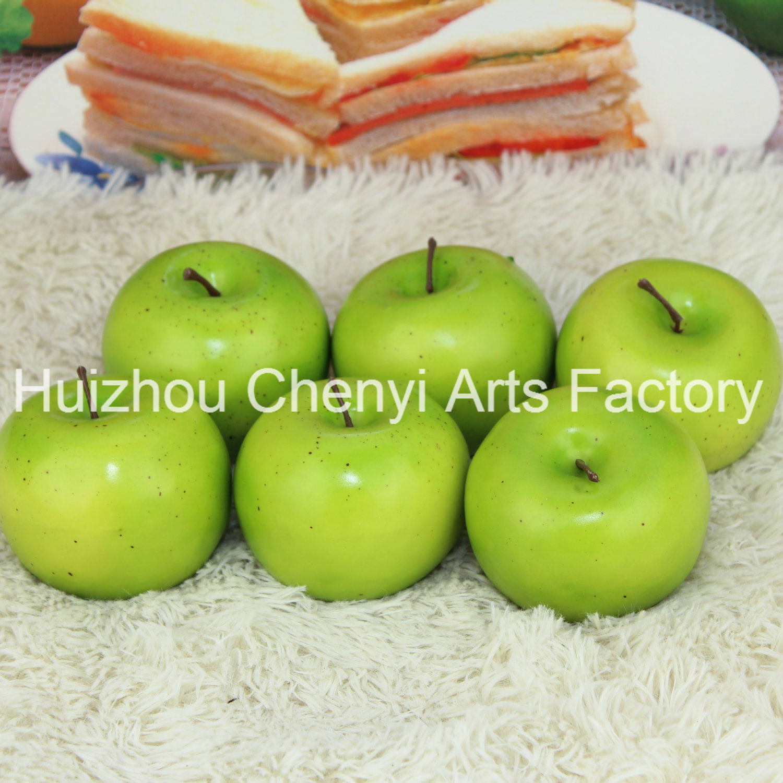 75mm Green Apple Artificial Fruit