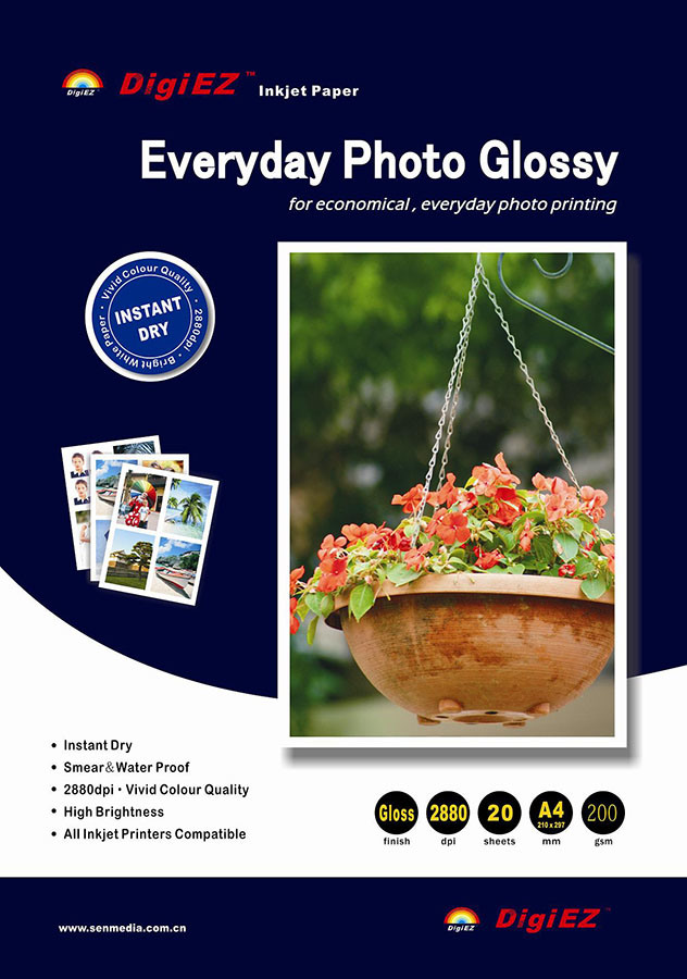 SGS Audited Cast Coated Glossy Photo Paper (CWG-D)