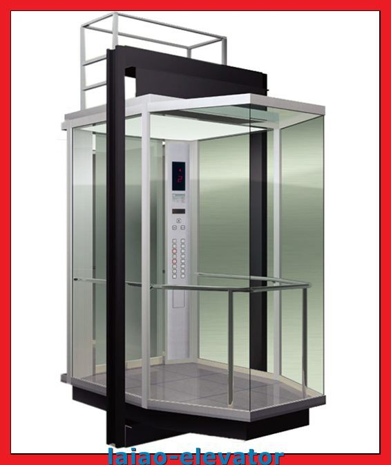 Gearless Motor with Vvvf Control Panoramic Elevator Lift