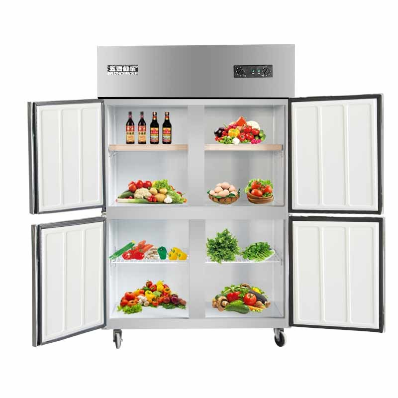 Low Consumption Four Doors Double Compressors Kitchen Refrigerator