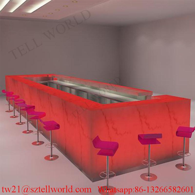 Fast Food Modern Restaurant Bar Compteurs Counter Cabinet Design for Sale
