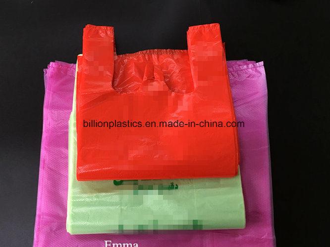 HDPE Plastic T-Shit Bag Handle Bag Plastic Carrier Bag