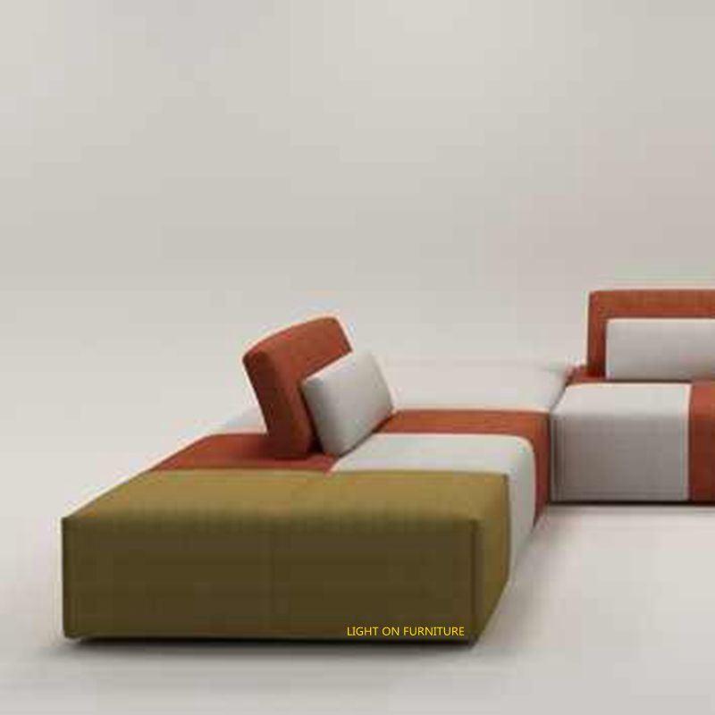 2017 New Design Living Room Combination Fabric Sofa (F1115#)