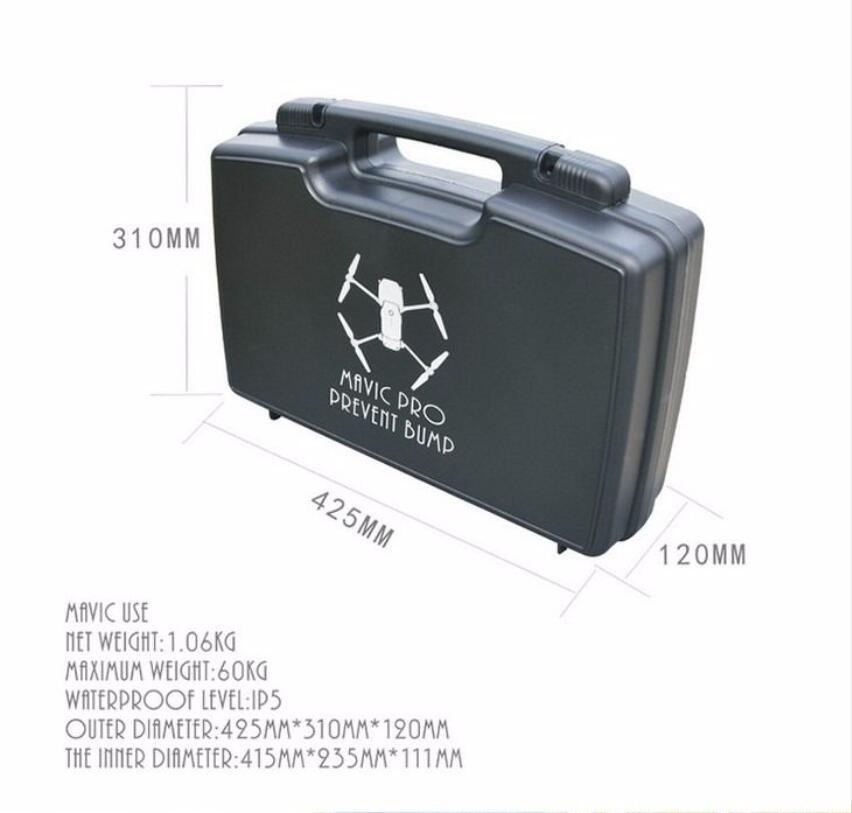 Portable Hardshell Suitcase Waterproof Backpack Handheld Box Case