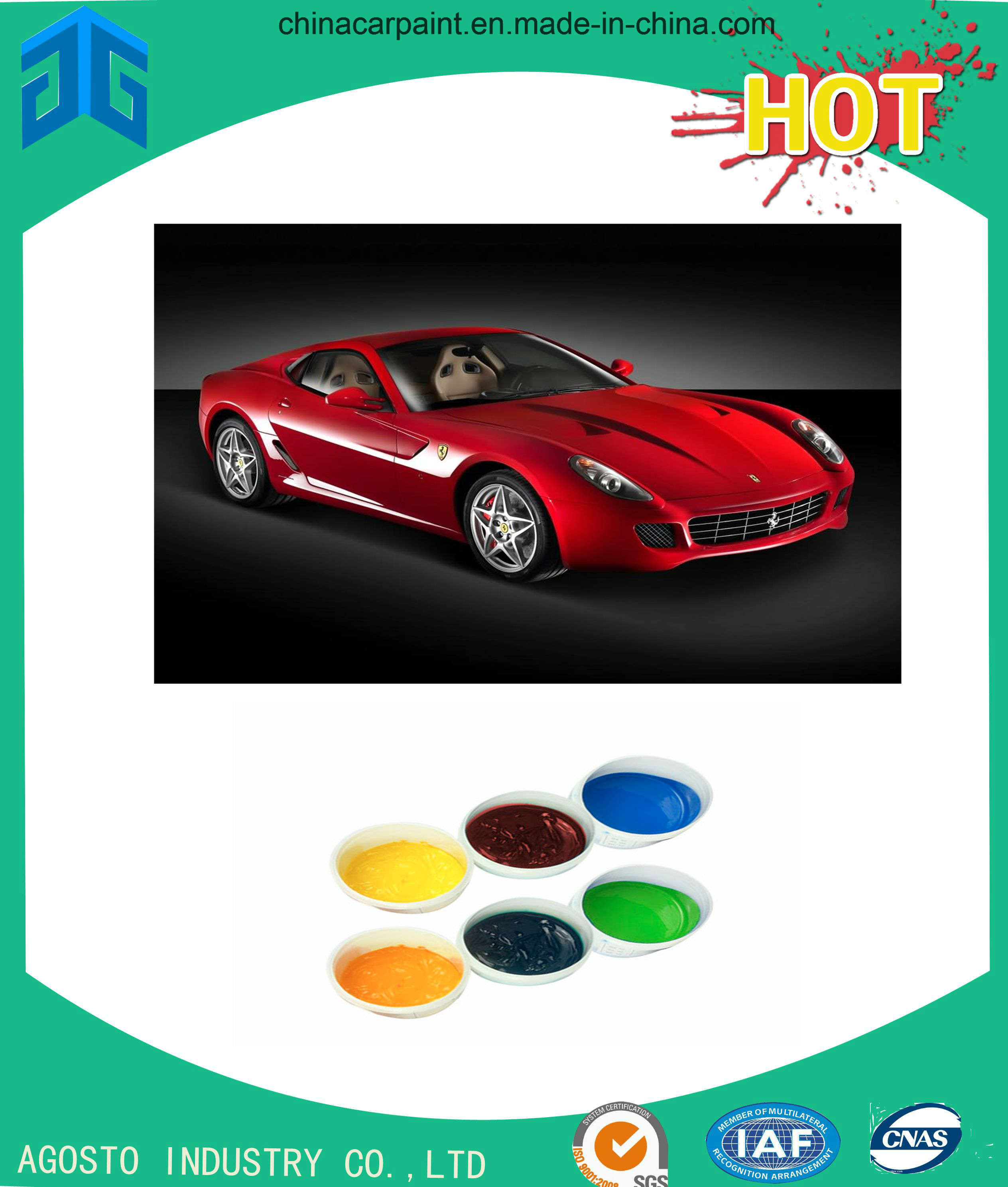 Colorful Automotive Paint for Refinishing