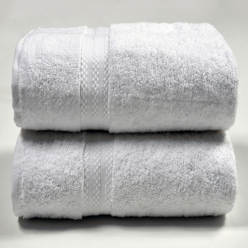 China Towel Manufacture OEM Customer Cotton Solid Dobby Bath Towel