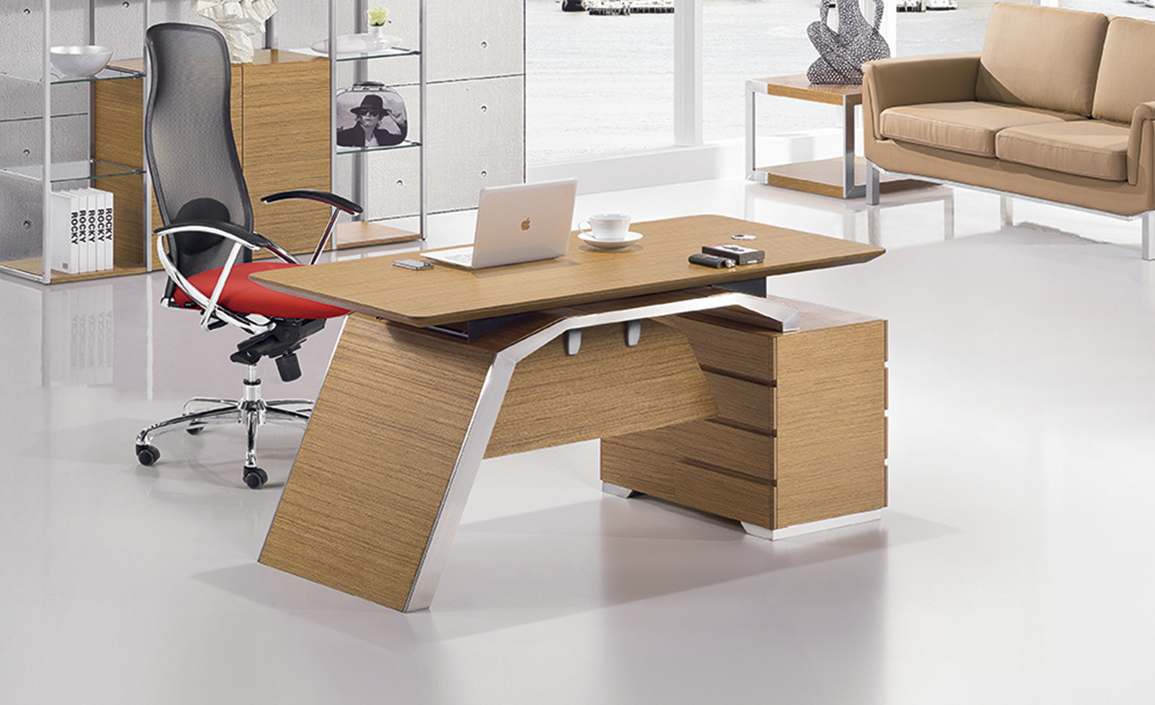 Modern MFC Laminated MDF Wooden Office Table (NS-NW288)