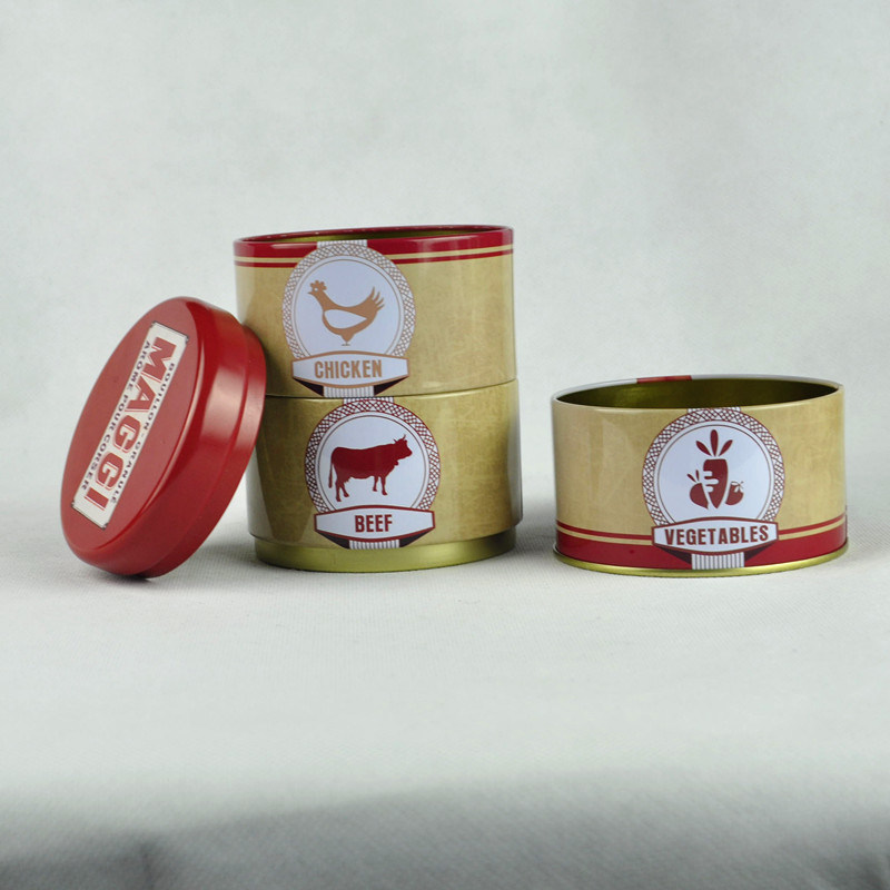 Airtight Lid Round Shape Tin Can with Custom Prnting Wholesale