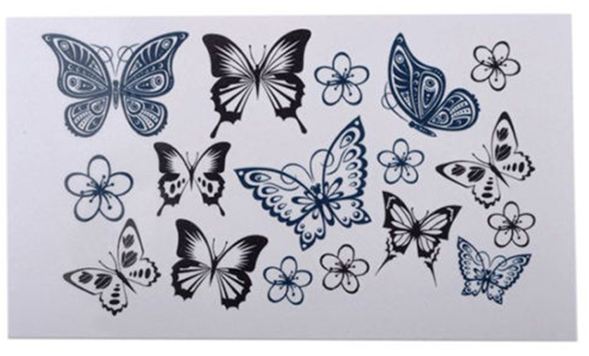 Sexy Butterfly Body Temporary Tattoo Sticker Art Tattoo Sticker
