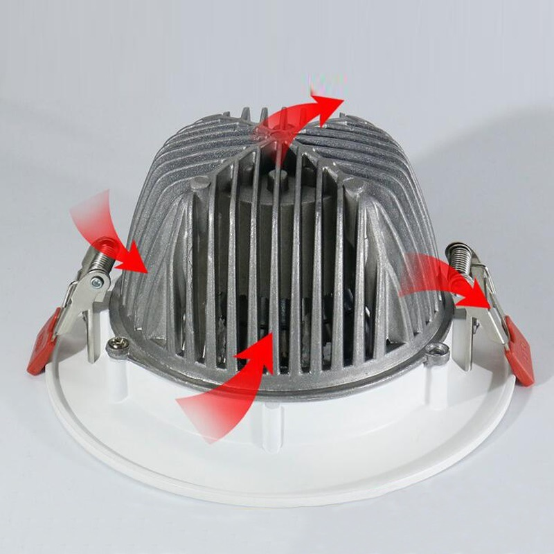 7W-50W High Power Embeded LED COB Downlight with Ce SAA