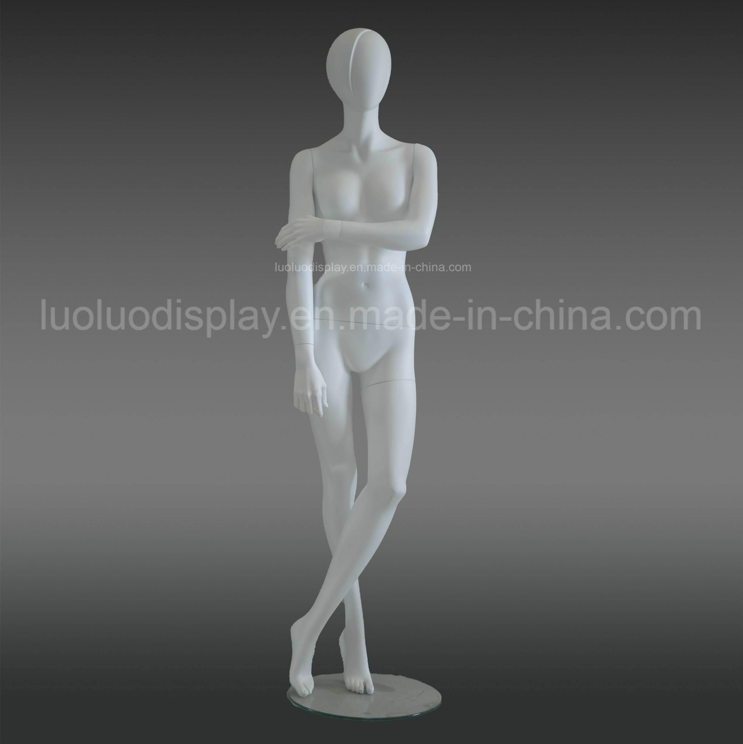 Shinny White Female Mannequins for Wedding Dress