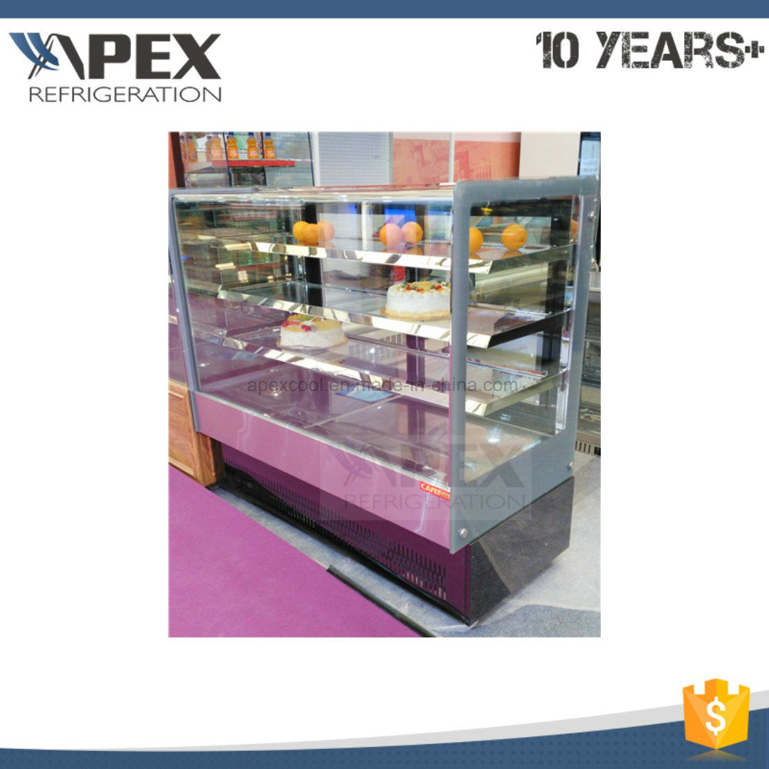 2016 New Style Cake Display Showcase Cooler with Ce, Saso