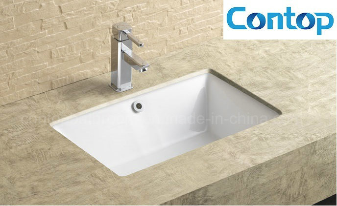 Sanitary Ware Bathroom Under-Mount Basin Square Insert Ceramic Washing Basin