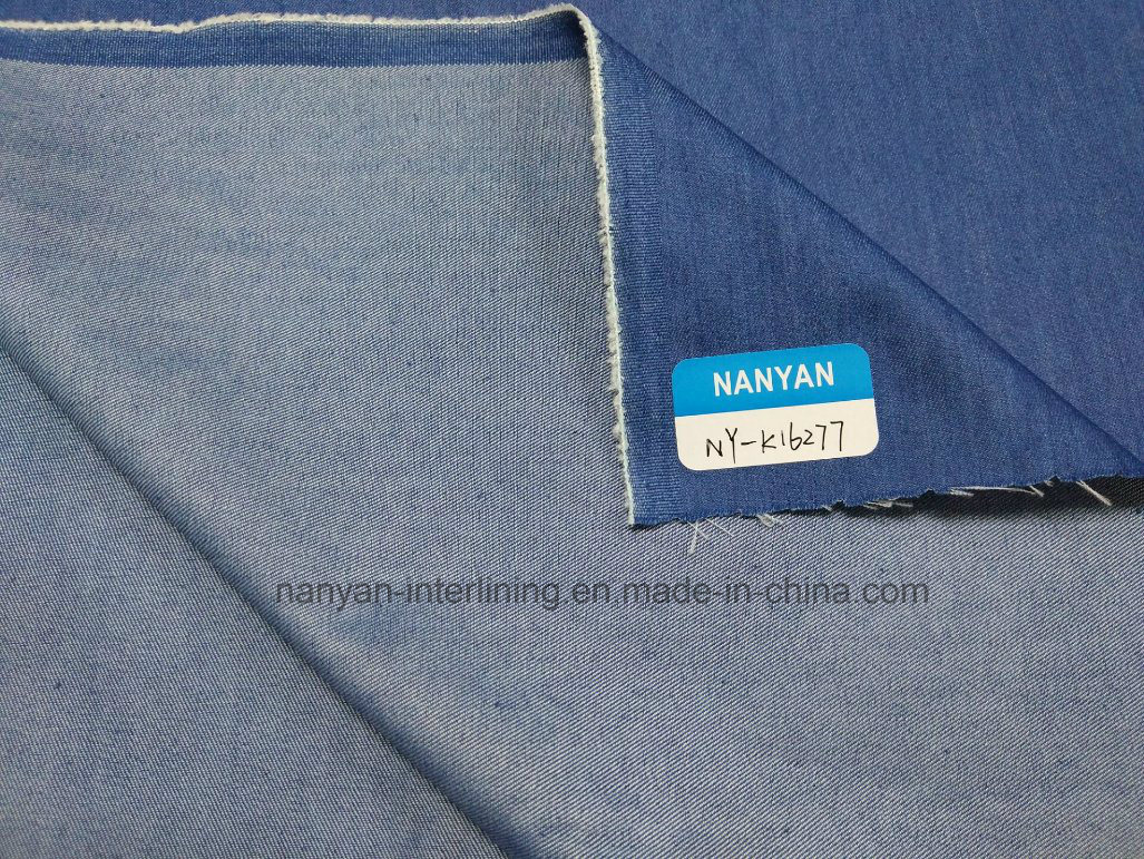 Woven Denim Fablic Indigo Twill Cotton Polyester Spandex Stretch Mercerizing